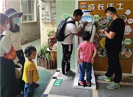 许昌市文化街幼儿园使用贝宝娃晨检机器人现场花絮
