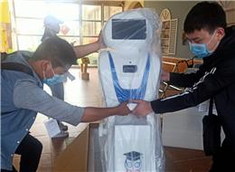 天才幼儿园安装贝宝娃人工智能幼儿园晨检机器人